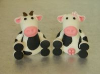 Cow & Bull Cake Toppers